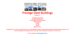 Steel Buildings Toronto | Prestigesteel.ca