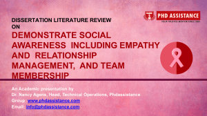 Dissertation Literature Review  Demonstrate Social Awareness Including Empathy And Relationship Management - Phdassistance.com