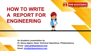 How to Write a Report for Engineering  Research Proposal Writing Services - Phdassistance.com