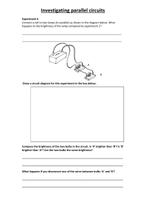 Investigating parallel circuits worksheet