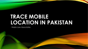 Legal Service For Trace Mobile Location in Pakistan