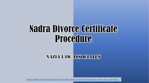 Simple Procedure for Nadra Divorce Certificate Verification Online System