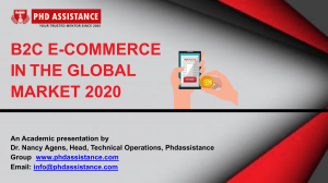 B2C E-Commerce in the Global Market 2020 — Phdassistance.com