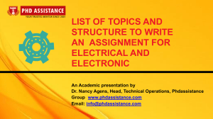 List All Topics And Structure To Write An Assignment For Electric And Electronic -  Phdassistance.com