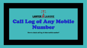 Get Know Procedure for Getting Call Log of Any Mobile Number