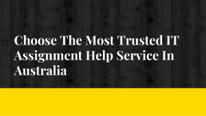 Choose The Most Trusted IT Assignment Help Service In Australia