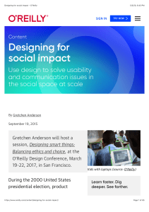 designing for social impact (O'Reilly)
