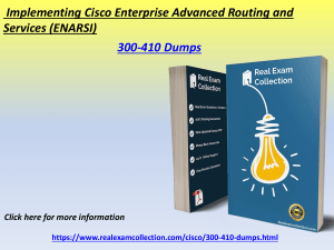 Cisco 300-410 Latest Real Exam Study Questions - Cisco 300-410 Dumps
