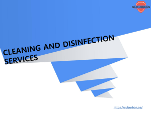 Cleaning and Disinfection in Dubai