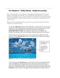 Completing Valdez Using SimplyAccounting