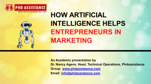 How Artificial Intelligence helps Entrepreneurs in Marketing - Phdassistance.com