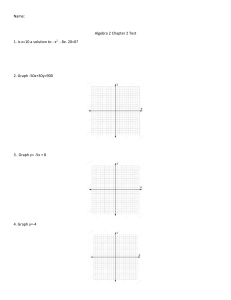 Algebra 2 Chapter 2 Test