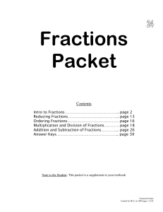 11 Math 550 Fractions Packet  2