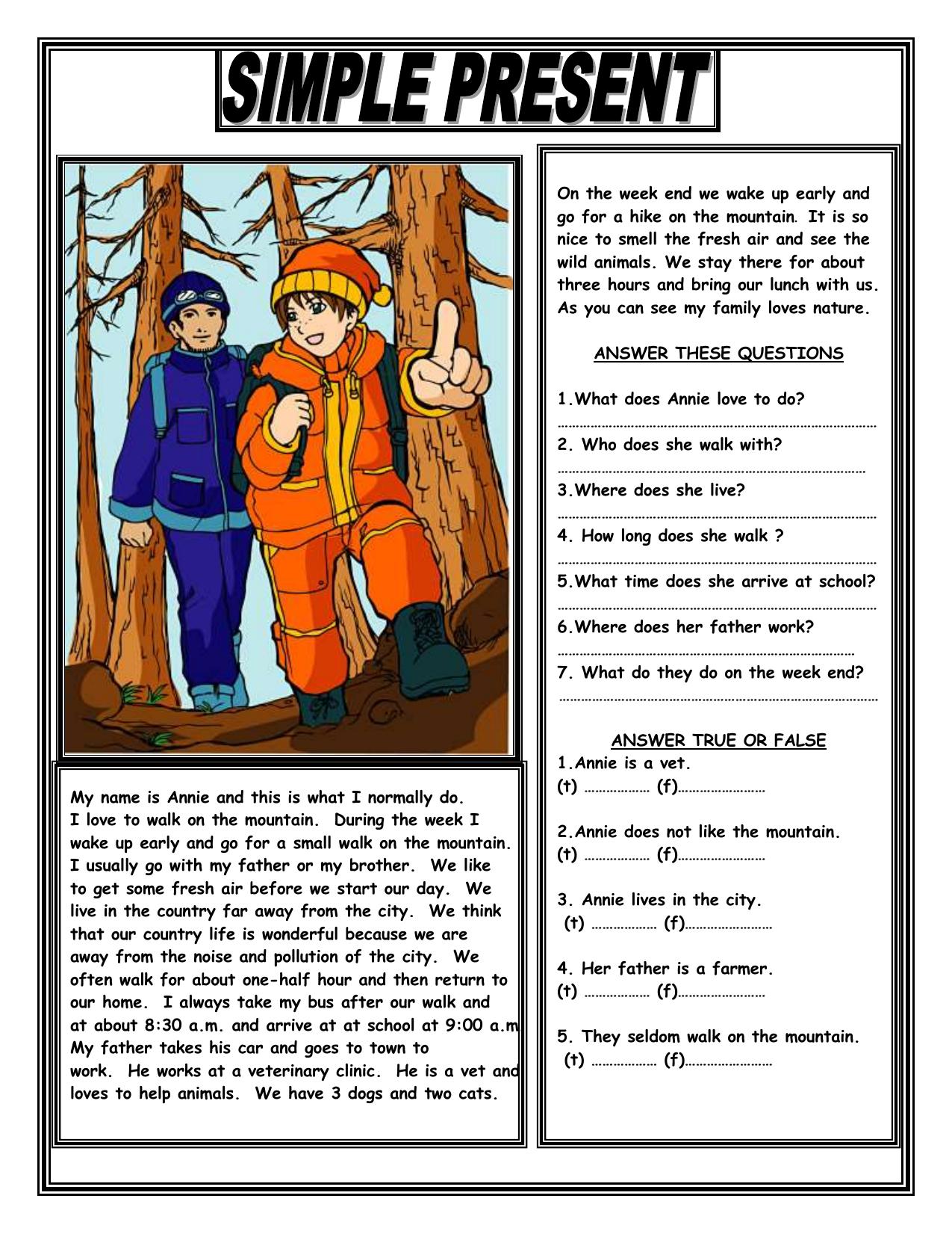 - Simple-present-reading-comprehension-text-grammar-drills-reading