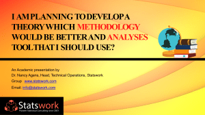 I Am Planning To Develop A Theory Which Methodology Would Be Better And Analyses Tool That I Should Use - Statswork