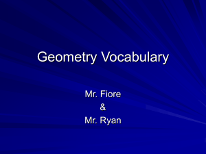 Math Geometry Vocabulary