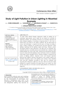 Study of Light Pollution in Urban Lighting in Nisantasi Example