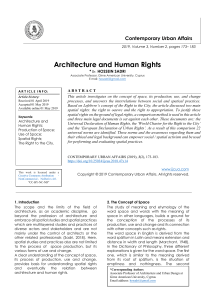 Architecture and Human Rights