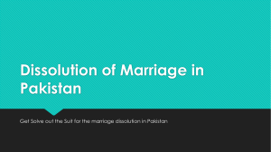 Best Lawyer Consultancy For Dissolution of Marriage in Pakistan