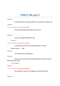 THEO 104 quiz 3: 100% Graded A
