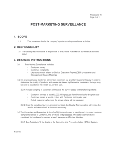 Post-Marketing Surveillance Procedure