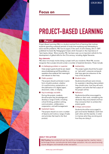 oup-focus-project-based-learning