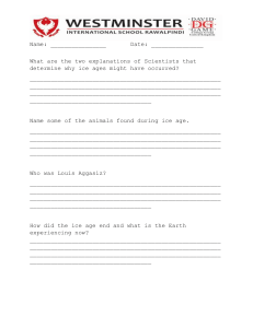 ice age worksheets