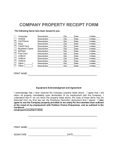 Company Property Receipt-Approved