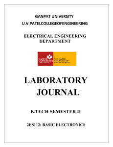 Basic electronics  practical manual final