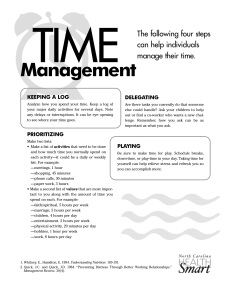 stress management time management