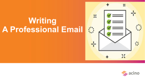 Professional Email Writing