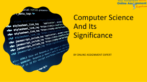 Computer Science And Its Significance-converted