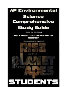 AP ENVIRONMENTAL SCIENCE COMPREHENSIVE STUDY GUIDE.