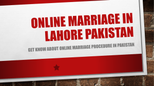 Simple Way For Online Marriage Procedure in Pakistan - Nazia Law Associates