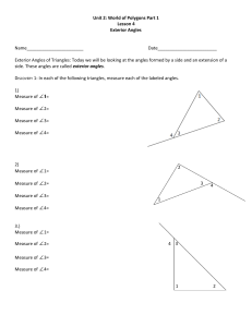 Geometry 2 Lesson 03 - Exterior Angles