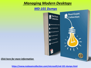 2020 Updated microsoft MD-101 Exam Dumps PDF - MD-101 Dumps Questions