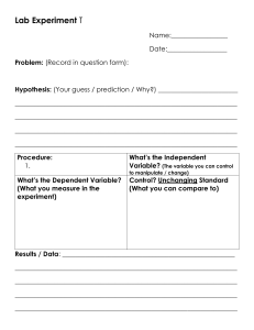 Lab experiment template