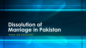Get Know About Legal Way For Dissolution of Marriage in Pakistan
