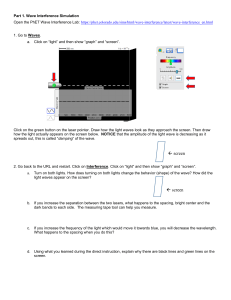 double slit lab with questions