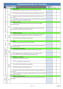 IIA Review Checklist