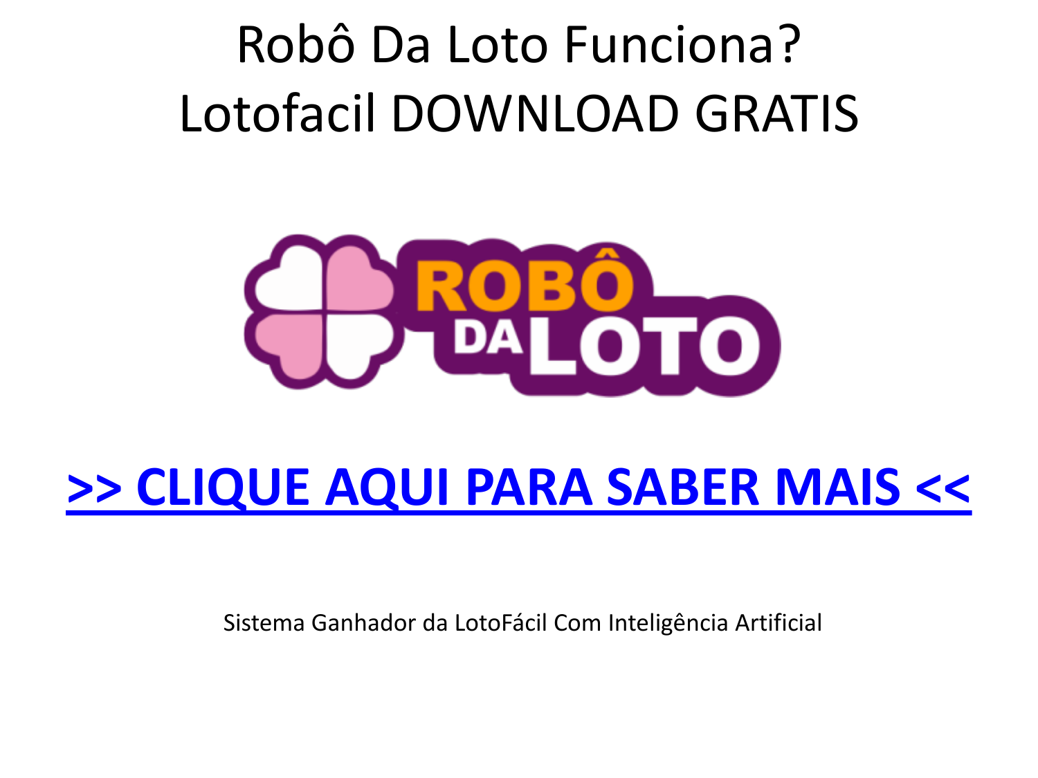 robo lotofacil download