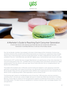 A marketers guide reach each consumer generation Yes Marketing