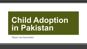 Simple And Easy Way For Child Adoption Process in Pakistan