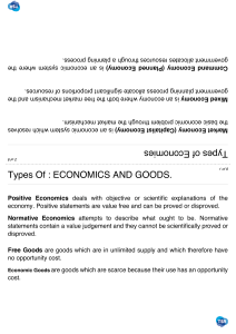 Economics - terms to know Unit - 1