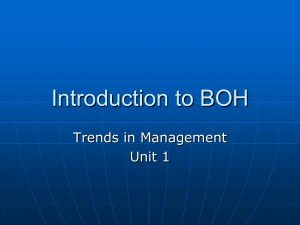 1 - A - Trends in Management