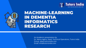 Machine-Learning in Dementia Informatics Research- TutorsIndia.com