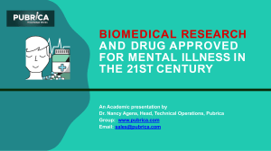 Biomedical Research and drug approved for mental illness in the 21st Century - Pubrica