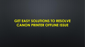 Get Easy Solutions To Resolve Canon Printer Offline