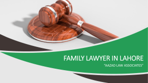 Professional Family Lawyer in Lahore For The Legal Solution of Family Cases