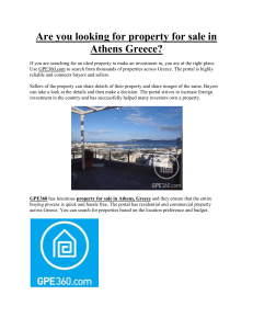 Are you looking for property for sale in Athens Greece?